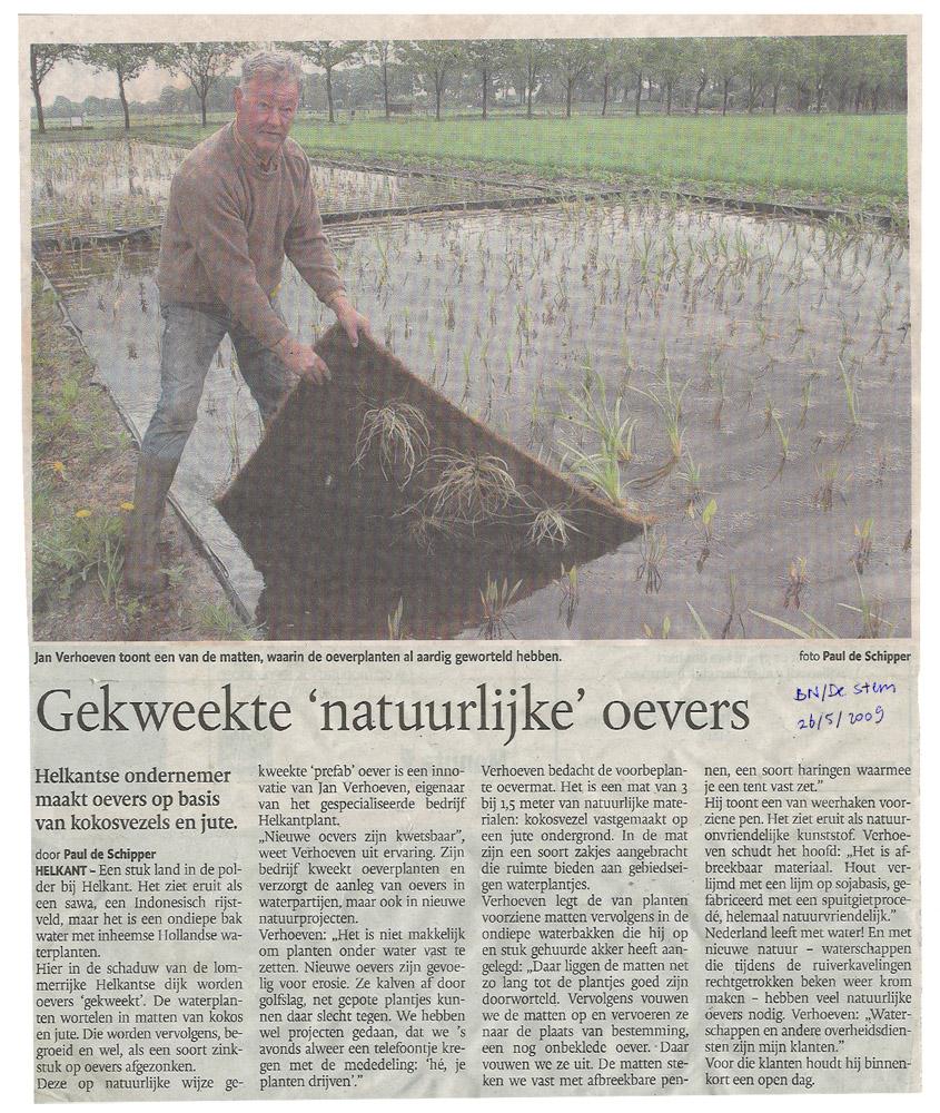 advertentie oevermatten Stem 26 mei 2009, HelkantPlant
