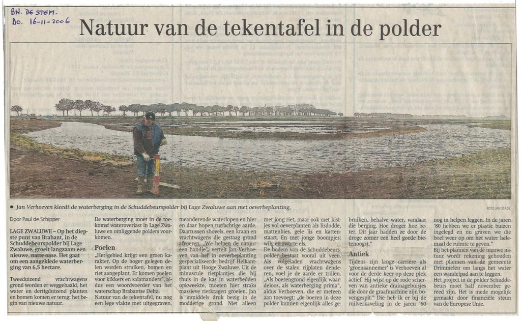 artikel waterberging Schuddebeurs, Helkantplant